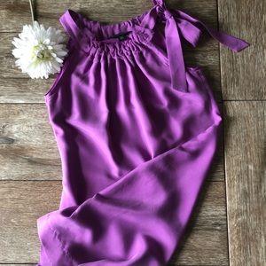 Banana Republic Sleeveless Silk Shift Dress